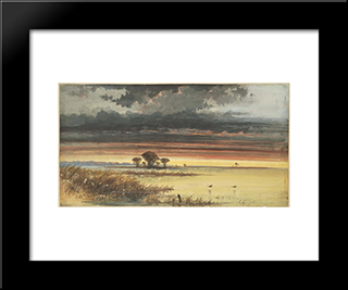 Marches, New Jersey: Modern Black Framed Art Print by James Hamilton