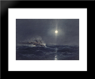 Marine: Modern Black Framed Art Print by James Hamilton