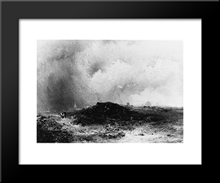 On Hampstead Heath: Modern Black Framed Art Print by James Hamilton