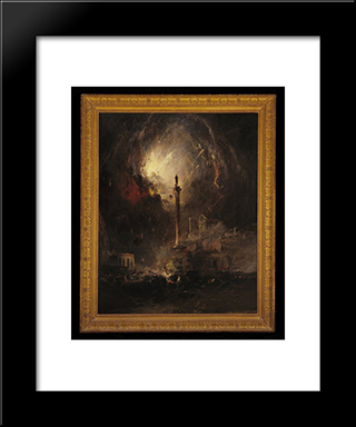 The Last Days Of Pompeii: Modern Black Framed Art Print by James Hamilton