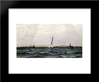 Untitled (Harbor Scene): Modern Black Framed Art Print by James Hamilton