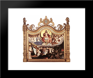 Last Judgement: Modern Black Framed Art Print by Jan Provoost