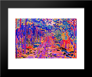 Forest Trail: Modern Black Framed Art Print by Jan Sluyters