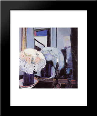 Hat With Flowers: Modern Black Framed Art Print by Jan Sluyters