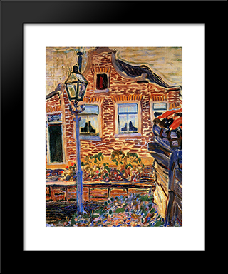 House At The Achterweg: Modern Black Framed Art Print by Jan Sluyters