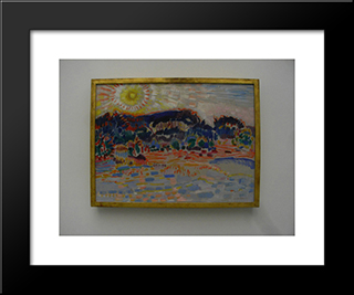 Landscape: Modern Black Framed Art Print by Jan Sluyters