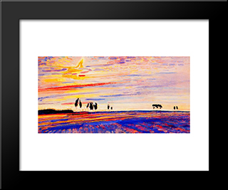 Morning Glory: Modern Black Framed Art Print by Jan Sluyters