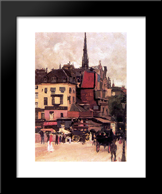 Paris Cityview: Modern Black Framed Art Print by Jan Sluyters