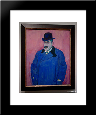 Portrait Of An Art Collector Beffe: Modern Black Framed Art Print by Jan Sluyters