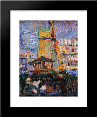 Sawmill Het Luipaard: Modern Black Framed Art Print by Jan Sluyters