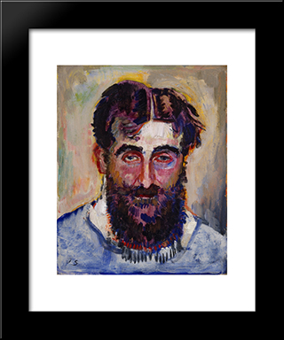 Self - Portrait: Modern Black Framed Art Print by Jan Sluyters