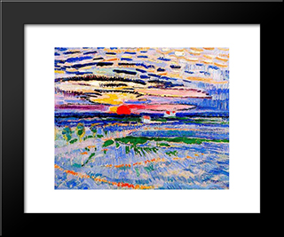 Sunrise: Modern Black Framed Art Print by Jan Sluyters