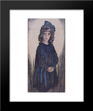 The Daughter Of Sormani: Modern Black Framed Art Print by Jan Sluyters