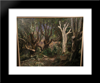The White Tree: Modern Black Framed Art Print by Jan Sluyters