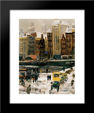 Townview, Amsterdam Het Rokin: Modern Black Framed Art Print by Jan Sluyters