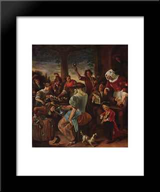 Cat Family: Modern Black Framed Art Print by Jan Steen