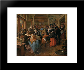 Cheated Groom: Modern Black Framed Art Print by Jan Steen