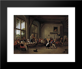 Country Wedding: Modern Black Framed Art Print by Jan Steen