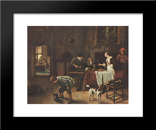 Easy Come, Easy Go: Modern Black Framed Art Print by Jan Steen
