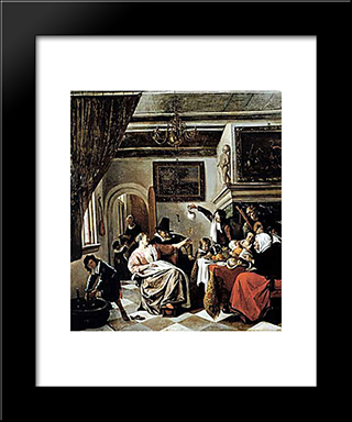 Family Holiday: Custom Black Wood Framed Art Print by Jan Steen