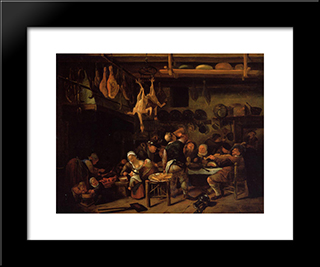 Fat Kitchen: Modern Black Framed Art Print by Jan Steen