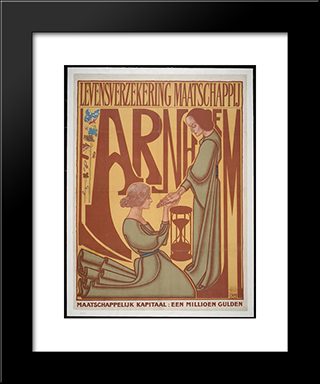 Arnhem Life Insurance Company: Modern Black Framed Art Print by Jan Toorop