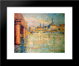 Bridge In London: Modern Black Framed Art Print by Jan Toorop
