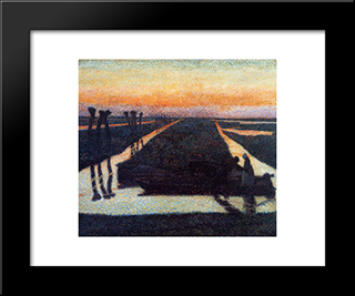 Broek In Waterland: Modern Black Framed Art Print by Jan Toorop