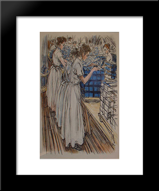 Candle Factory: Modern Black Framed Art Print by Jan Toorop