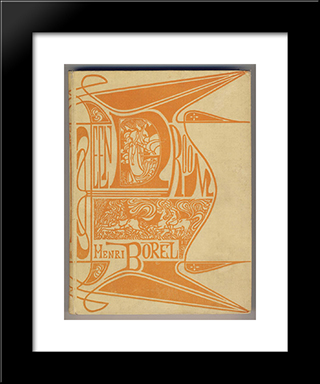 Cover For 'A Dream' By Henri Borel: Modern Black Framed Art Print by Jan Toorop