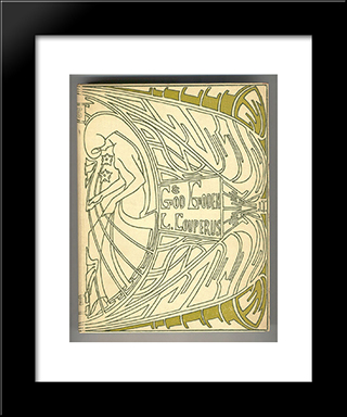 Cover For 'God En Goden' By Louis Couperus: Modern Black Framed Art Print by Jan Toorop