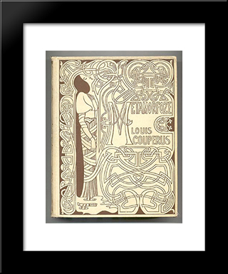 Cover For 'Metamorphosis' By Louis Couperus: Modern Black Framed Art Print by Jan Toorop