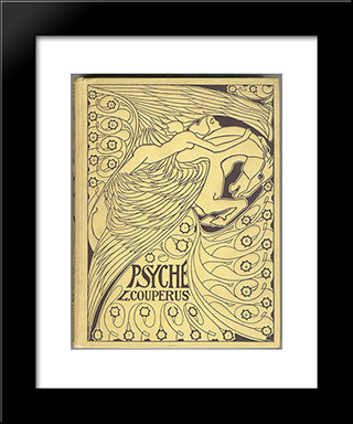 Cover For 'Psyche' By Louis Couperus: Modern Black Framed Art Print by Jan Toorop