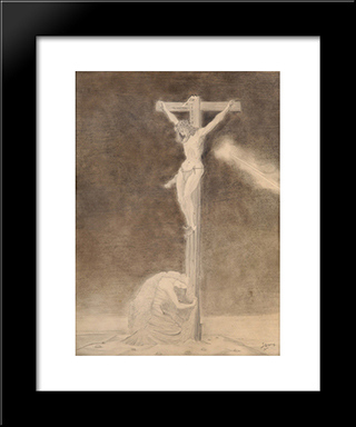 Crucifixion: Modern Black Framed Art Print by Jan Toorop