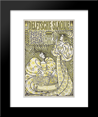 Delft Salad Oil: Modern Black Framed Art Print by Jan Toorop