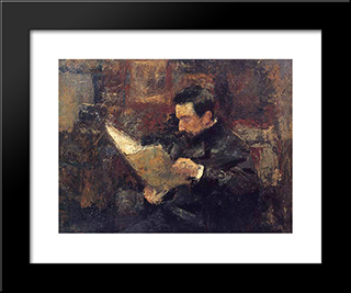 Edmond Picard: Modern Black Framed Art Print by Jan Toorop