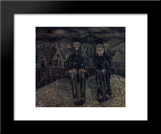 Fatalism: Modern Black Framed Art Print by Jan Toorop