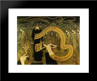 Fatality: Modern Black Framed Art Print by Jan Toorop