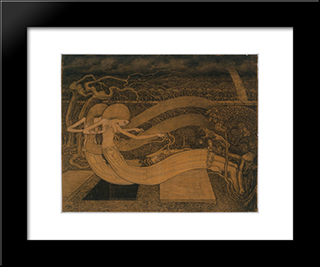 O Grave, Where Is Thy Victory: Modern Black Framed Art Print by Jan Toorop