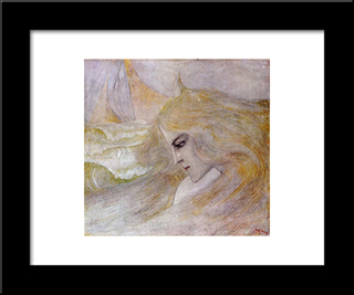 Oceanide: Modern Black Framed Art Print by Jan Toorop