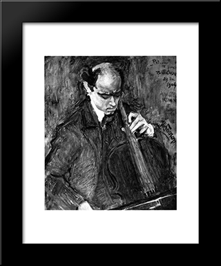 Pablo Casals: Modern Black Framed Art Print by Jan Toorop