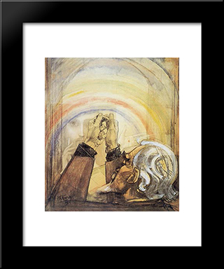 Self-Portrait: Modern Black Framed Art Print by Jan Toorop