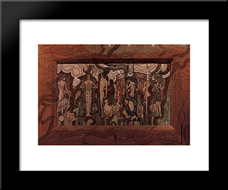 Song Of The Times: Modern Black Framed Art Print by Jan Toorop