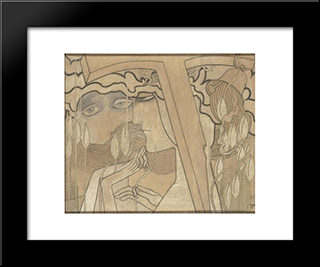 The Desire And The Satisfaction: Modern Black Framed Art Print by Jan Toorop