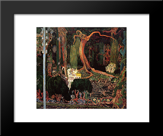 The New Generation: Modern Black Framed Art Print by Jan Toorop