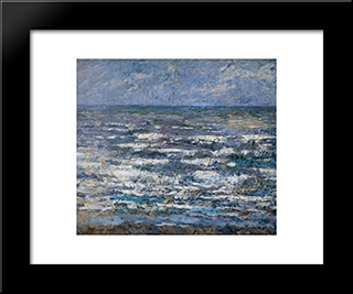 The Sea At Katwijk: Modern Black Framed Art Print by Jan Toorop