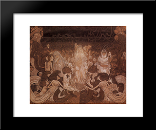 The Three Fiancees: Modern Black Framed Art Print by Jan Toorop