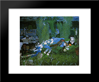 The Vagabonds: Modern Black Framed Art Print by Jan Toorop