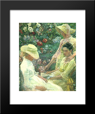 Trio Fleuri: Modern Black Framed Art Print by Jan Toorop