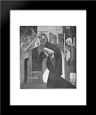 Veronica: Modern Black Framed Art Print by Jan Toorop